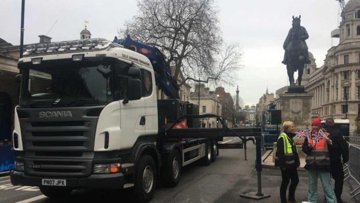 Crane unloading Midas Generators