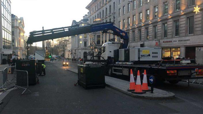 Midas generator crane loading